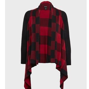 Torrid Buffalo Plaid Cardigan Jacket